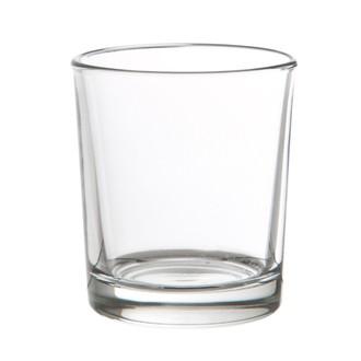 Support bougie chauffe-plat transparent 6,5x6cm