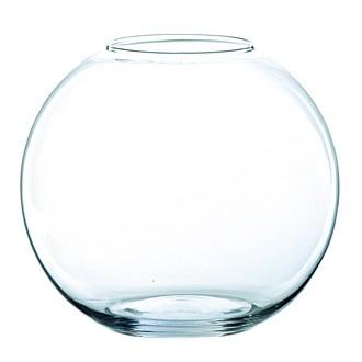 Photophore globe en verre transparent H8x10cm