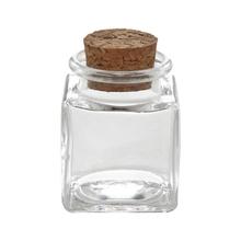 Achat en ligne Mini pot carré avec couvercle en liège 4x4x5cm