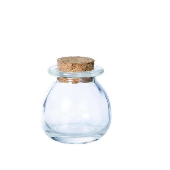 Mini pot rond avec couvercle en liège 5cm