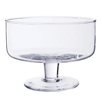 Vase coupe en verre transparent sur pied Sweet Ø19xH14cm