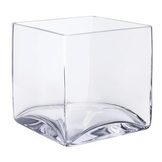 Terrarium cube en verre transparent 16x16x16cm