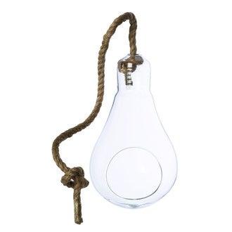 Vase ampoule à suspendre ou à poser corde d12xh20cm