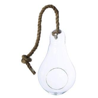 Vase ampoule à suspendre ou à poser corde d15xh25cm