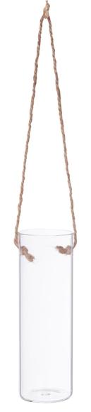 Achat en ligne Vase tube à suspendre ou à poser jute d5xh15cm