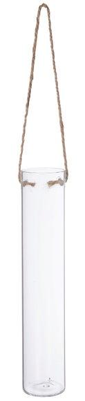 Achat en ligne Vase tube à suspendre ou à poser jute d5xh25cm
