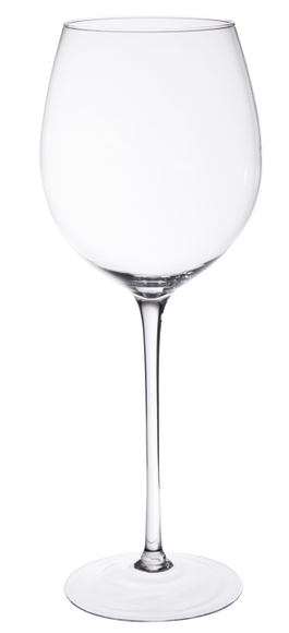 Achat en ligne Vase sur pied XXL en verre transparent Wine d23,5xh60cm