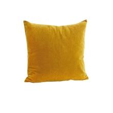 Achat en ligne Housse de coussin en velours moutarde 40x40cm