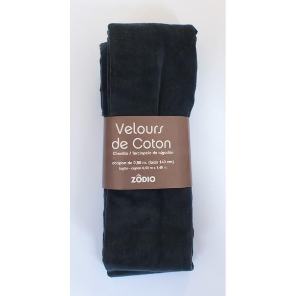 Velours de coton marine coupon de 0,5x1,4m