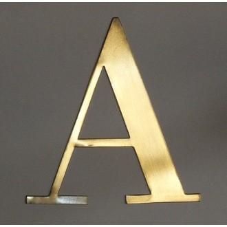 Lettre A métal doré 15x15cm