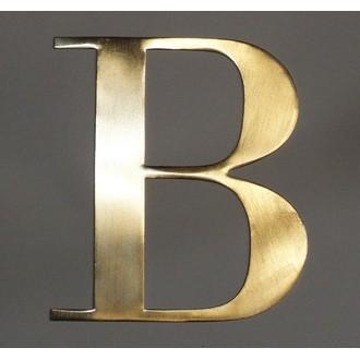 Lettre B métal doré 15x15cm