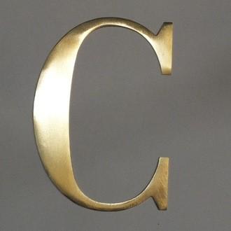 Lettre C métal doré 15x15cm