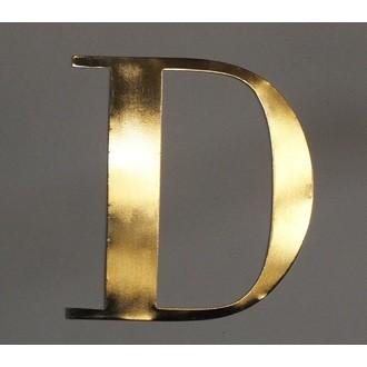 Lettre D métal doré 15x15cm