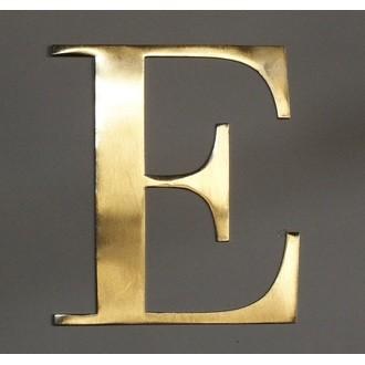 Lettre e métal doré 15x15cm