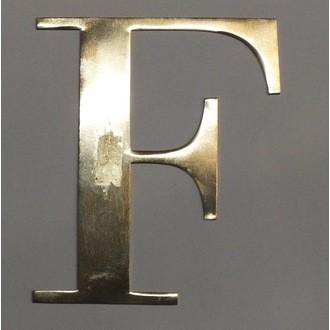 Lettre F métal doré 15x15cm