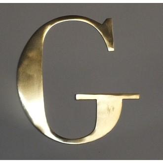 Lettre G métal doré 15x15cm