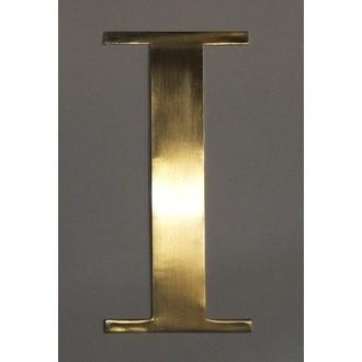 Lettre I métal doré 15x15cm