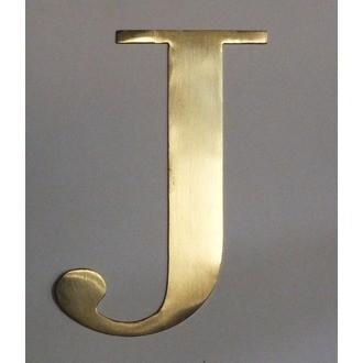 Lettre J métal doré 15x15cm