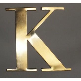 Lettre K métal doré 15x15cm