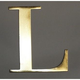 Lettre l métal doré 15x15cm