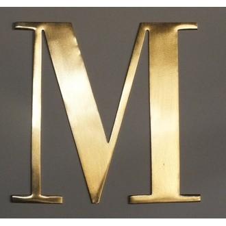 Lettre M métal doré 15x15cm