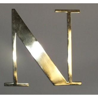 Lettre n métal doré 15x15cm