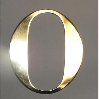 Lettre o métal doré 15x15cm