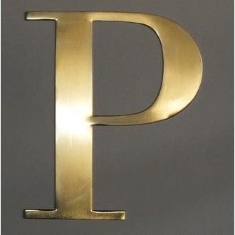 Lettre P métal doré 15x15cm