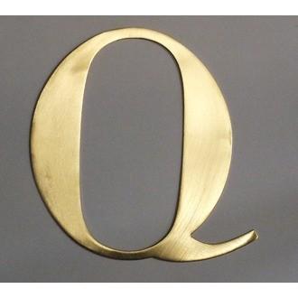 Lettre Q métal doré 15x15cm