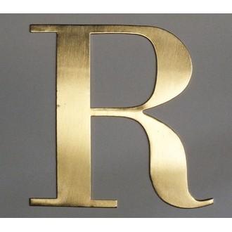 Lettre R métal doré 15x15cm