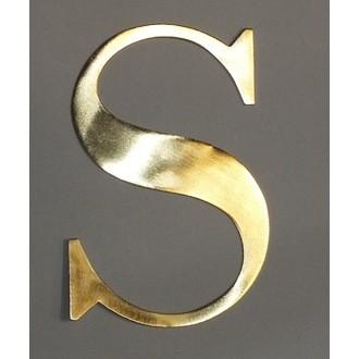 Lettre S métal doré 15x15cm