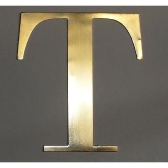 Lettre T métal doré 15x15cm