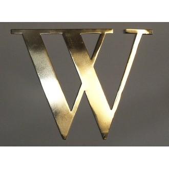 Lettre W métal doré 15x15cm
