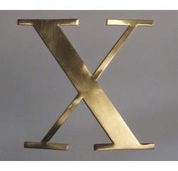 Achat en ligne Lettre X métal doré 15x15cm