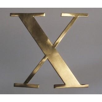 Lettre X métal doré 15x15cm