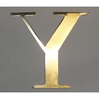 Lettre Y métal doré 15x15cm