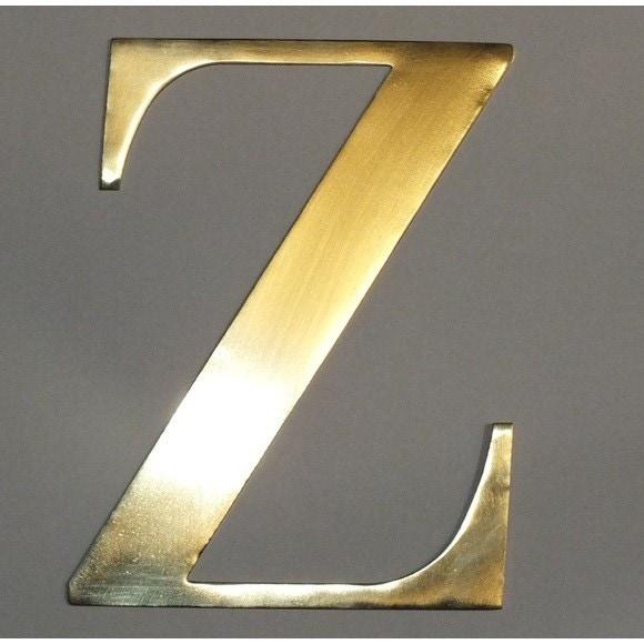 Achat en ligne Lettre Z métal doré 15x15cm