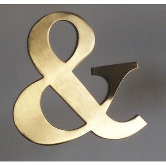 Lettre & métal doré 15x15cm