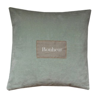 ZODIO- Coussin velours jade 40x40