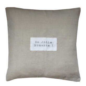 ZODIO- Coussin lin message