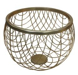 Achat en ligne Panier de rangement décoration filaire doré