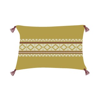 Coussin en coton hacienda curry 30x40cm