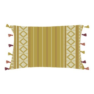 Coussin en coton Hacienda curry 30x50cm