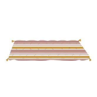Futon en coton rayé horizon hacienda 60x120cm