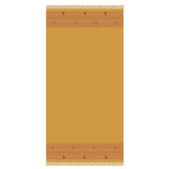 Fouta en coton Hacienda curry 100x200cm