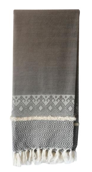 Achat en ligne Plaid tissé coton gris souris Mila 130x150cm