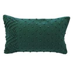Achat en ligne Coussin en coton tissé à pompons cedre Indian 30x50cm