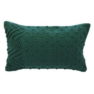 Coussin en coton tissé à pompons sienne indian 30x50cm