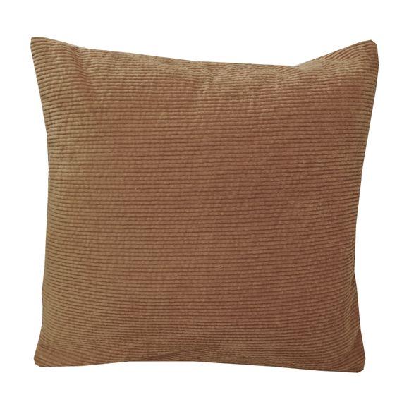 Cuscino quadrato in velluto a coste beige 40x40cm