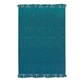 Tapis en coton tufté à franges peacock villes 120x180cm